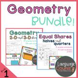 Geometry Bundle- 1st Grade