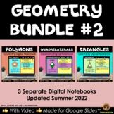 Polygons, Quadrilaterals & Triangles Google Geometry Bundl