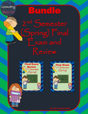 Geometry Bundle: 2nd Semester (Spring) Final Exam and Review