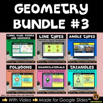 Geometry Bundle 3: Six Interactive Digital Notebooks for Google Drive®