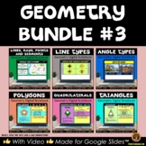 Geometry Digital Notebooks for Google Drive® Geometry Bundle #3