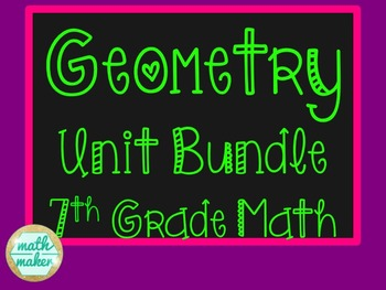 Geometry Bundle ~ 7th Grade ~ 35+ Amazing Resources
