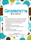 Geometry Bundle: Activities, Projects, Worksheets, and more!