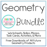Geometry Bundle ~ All My Geometry Products for 1 Low Price