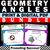 Complementary and Supplementary Angles 7th Grade Math Review Digital BUNDLE