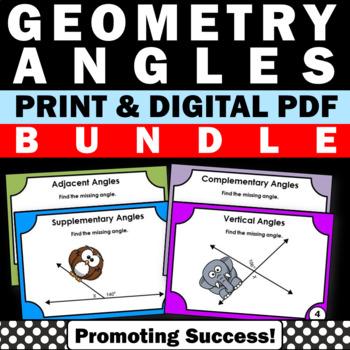 Geometry Angles Bundle 7th 8th Grade Common Core Math Game