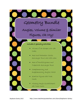 Geometry Bundle (Angles, Volume, Similar Figures, Oh My!)