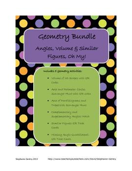 Geometry Bundle (Angles, Volume, Similar Figures, Oh My!)
