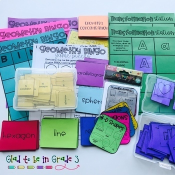 Geometry Bundle: Games, Activities, and Reference Squares
