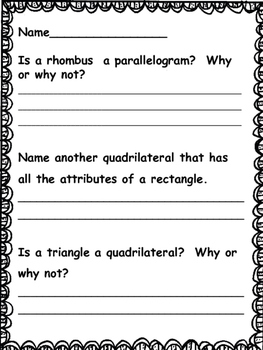 Geometry Activities and Printables