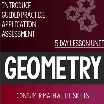 Geometry Bundle- High School Special Education