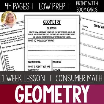 Geometry Bundle- High School Special Education