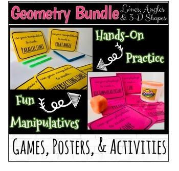 Geometry Bundle: Lines, Angles, 3D Shapes