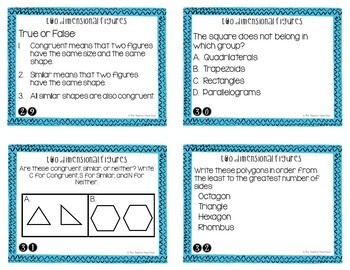 Geometry Bundle Task Cards for 5th Grade