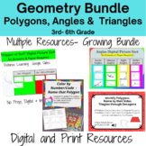 Geometry Bundle - Polygons, Angles & Triangles