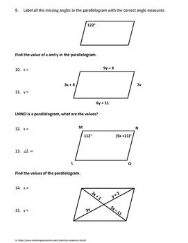 Geometry Bundle: Quadrilaterals