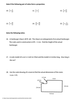 Geometry Bundle: Scale Factor, Similar Triangles, and Special Right Triangles