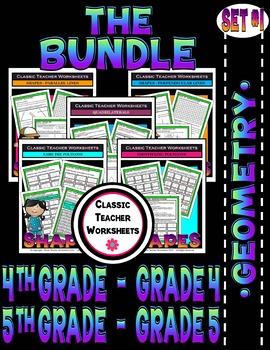 Geometry Bundle - Set 1 - 4th-5th Grade (Grades 4-5)