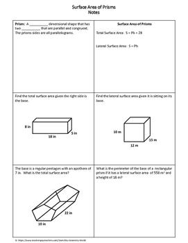 Geometry Bundle: Surface Area