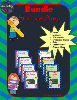 Geometry Bundle: Surface Area