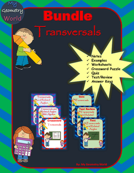 Geometry Bundle: Transversals and Related Angles