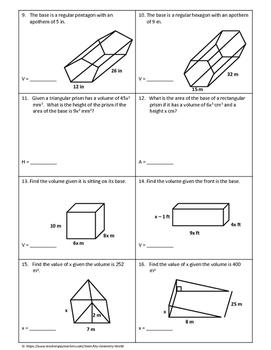 Geometry Bundle: Volume