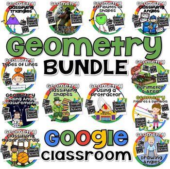 Geometry Bundle for GOOGLE CLASSROOM
