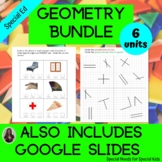 Geometry Bundle for Middle/High School Special Education
