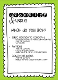 Geometry Bundle with Journal Resources and Worksheets