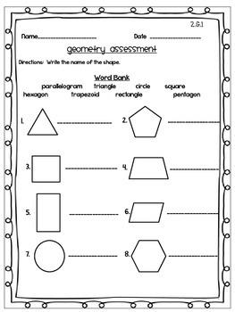 Geometry CCSS Second Grade Math Bundle