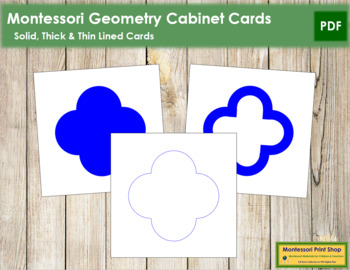 Geometry Cabinet Cards: Solid, Thick, Thin