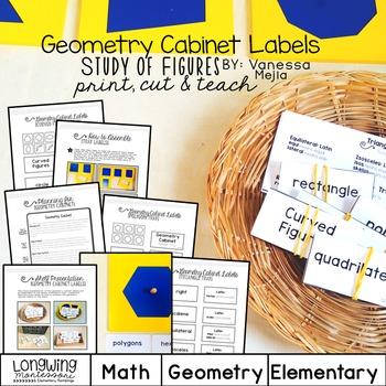 Montessori Geometry Cabinet:Shape Labels