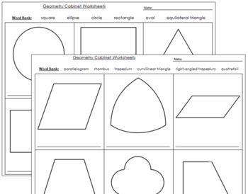 Geometry Cabinet: Worksheets