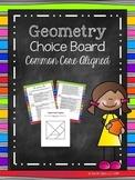 Geometry Choice Board (Common Core Aligned)