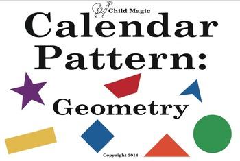Geometry Calendar Pattern Pieces