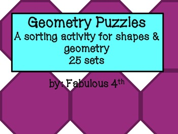 Geometry Card Sets