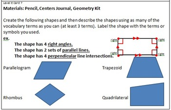 Geometry Center Cards E