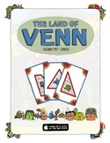 Geometry Cards - The Land of Venn. Common Core Aligned