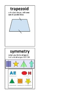 Geometry Cards Third Grade