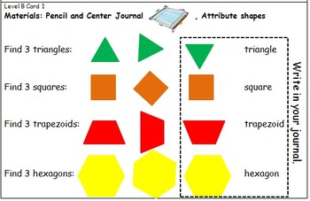 Geometry Center Cards B