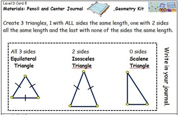 Geometry Center Cards D