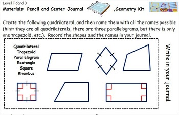 Geometry Center Cards F