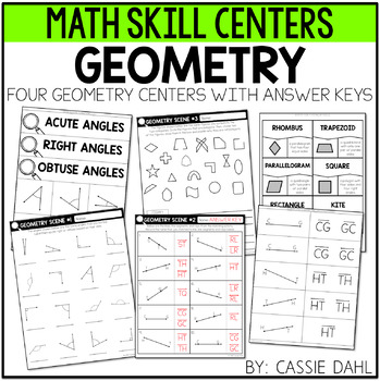 Geometry Centers (angles, lines, line segments, rays, polygons)