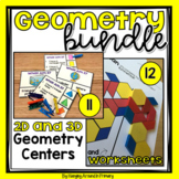 2D and 3D Shapes Activities and Centers BUNDLE