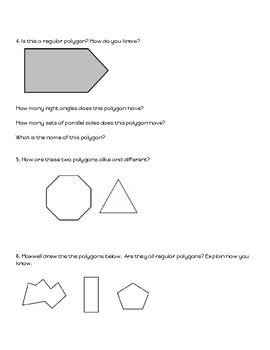 Geometry Challenge - Comparing and Contrasting Shapes