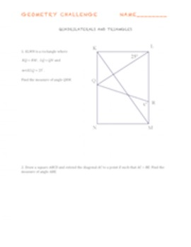 Geometry Challenge Problems