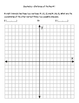 Geometry - Transformations Challenge of the Day Bundle