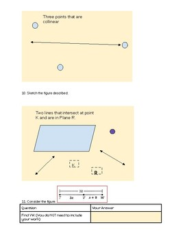 Geometry Chapter 1 Mid Chapter Review