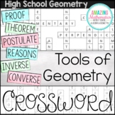 Geometry Chapter 1 Vocabulary Crossword - Tools of Geometry