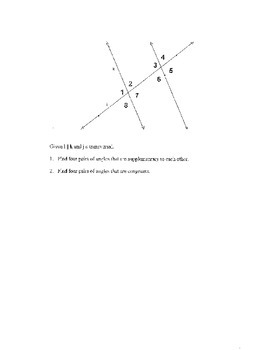 Geometry Chapter 3 Bundle: Parallel Lines and Planes